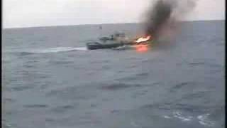The Japan Coast Guard received the attack.(6:48~