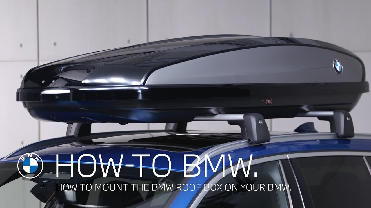 how to mount a bmw roof box bmw how to
