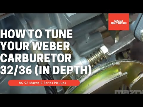 Weber Carburetor 32/36 Tuning