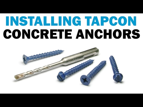 how-to-install-tapcon-masonry-concrete-screws- -fasteners-101