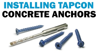 How to Install Tapcon Masonry Concrete Screws | Fasteners 101