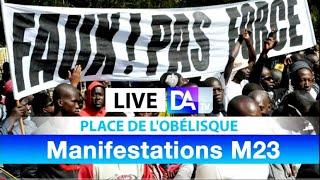 [🔴REPLAY - Place de l'obélisque ] Suivez la Manifestation du M23
