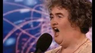 Susan Boyle has a cheese burger!
