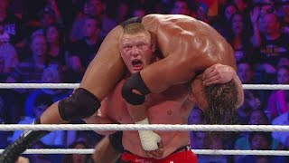 WWE Network: Brock Lesnar resorts to using a low blow against Triple H – SummerSlam 2012