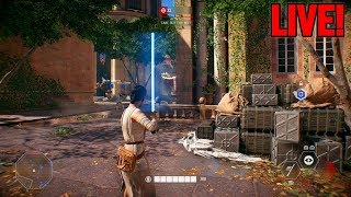 PLAYING AS REY & DARTH MAUL! - STAR WARS BATTLEFRONT 2 BETA GAMEPLAY  LIVE (PS4)