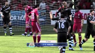 Pepe Reina & Andy Carroll Dive vs Newcastle 4.1.12 HD