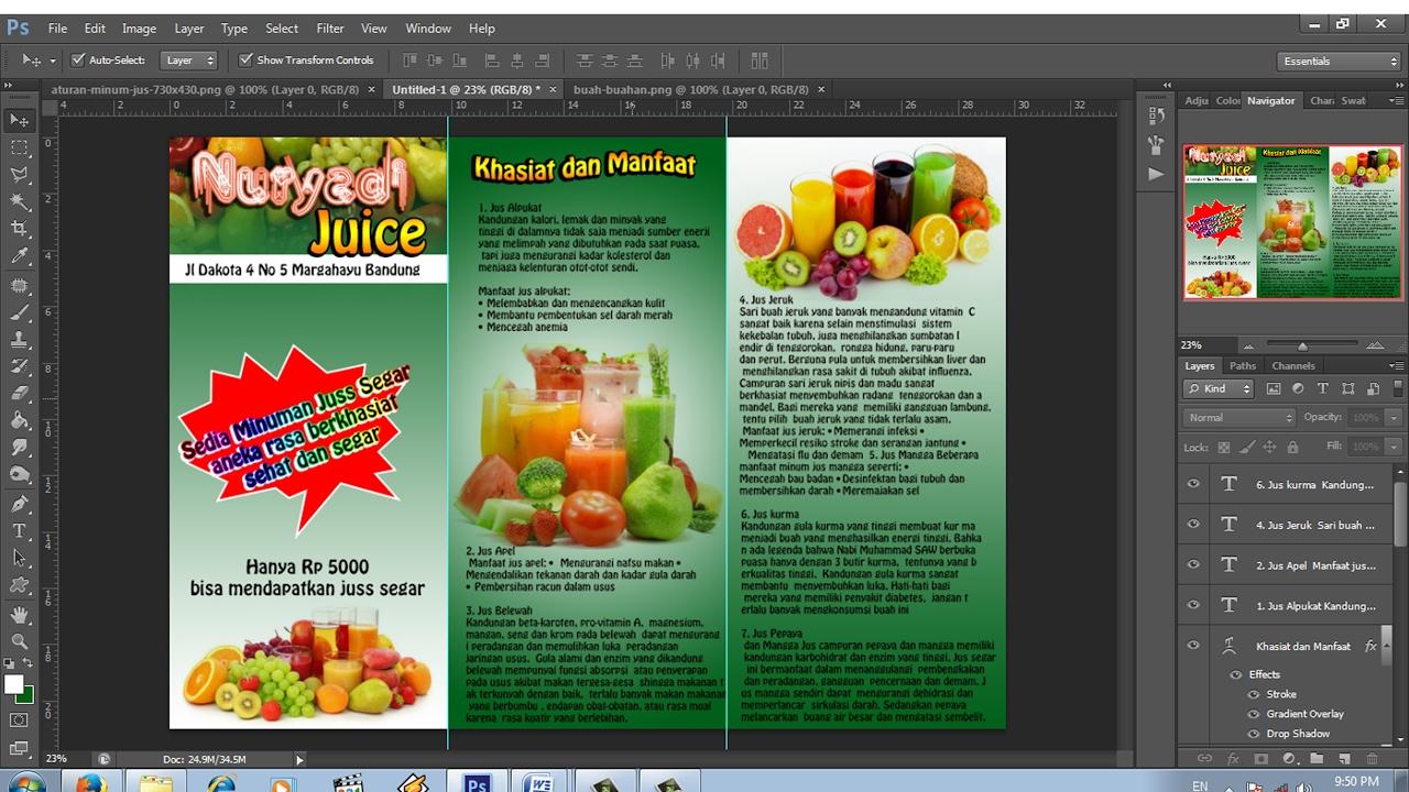 Cara Membuat Brosur Promosi Lipat Tiga Dengan Photoshop Youtube