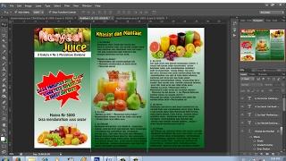 cara membuat brosur promosi lipat tiga dengan photoshop