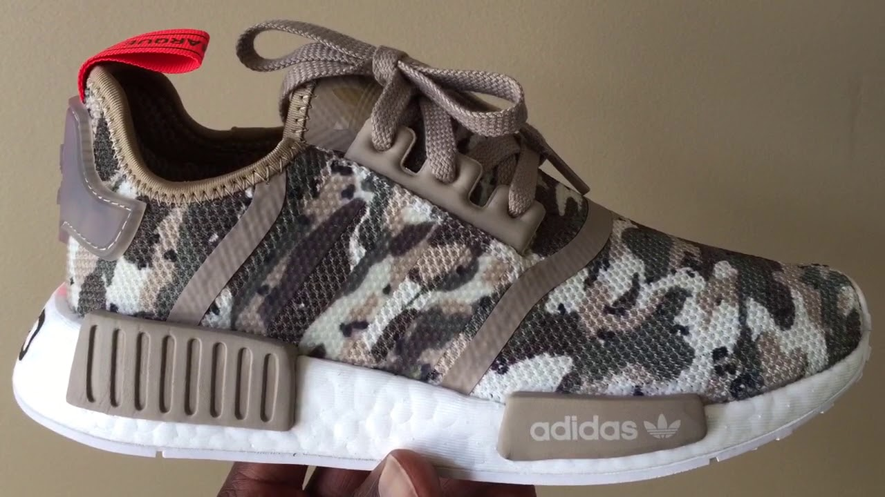 online retailer b8ffc 809bc Quick Look At The Camo Adidas NMD R1 Olive Green