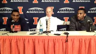 Illinois Basketball Postgame Press Conference vs. IPFW 11/29/13