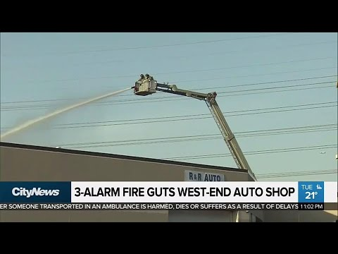 West End Auto >> 3 Alarm Fire Guts West End Auto Shop