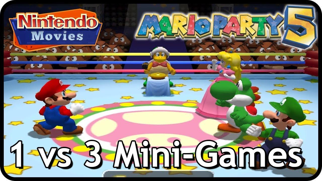 Mario Party 5 - All 1 vs 3 Mini-Games