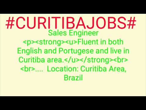 #CURITIBA#JOBS