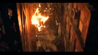 This scene is when Scarecrow sets Batman on fire. Scene from BATMAN...