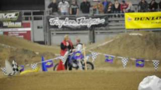 Trevor Fox #221 1st place 85 ages 9-11 yr WHR Pasco Arenacross 1-9-2010