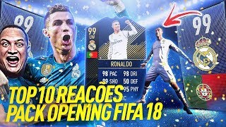 OMG!!! RONALDO TOTY 99 E ICON GULLIT 90 👑 TOP 10 REAÇÕES PACK OPENING FIFA 18 ULTIMATE TEAM, #02
