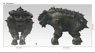 Shadow of the Colossus - Colossi sizes (update)
