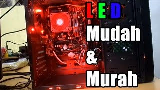 how to install leds on custom pc