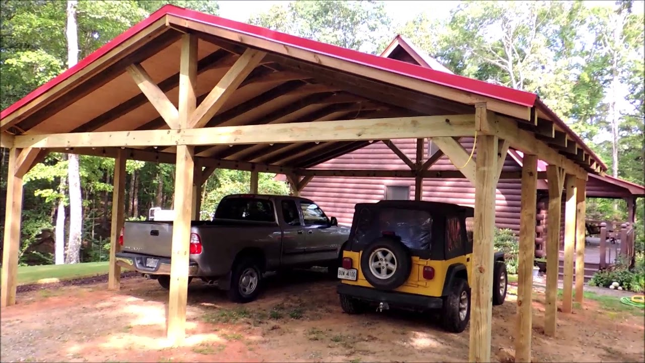 Carport Pole Barn Build Youtube