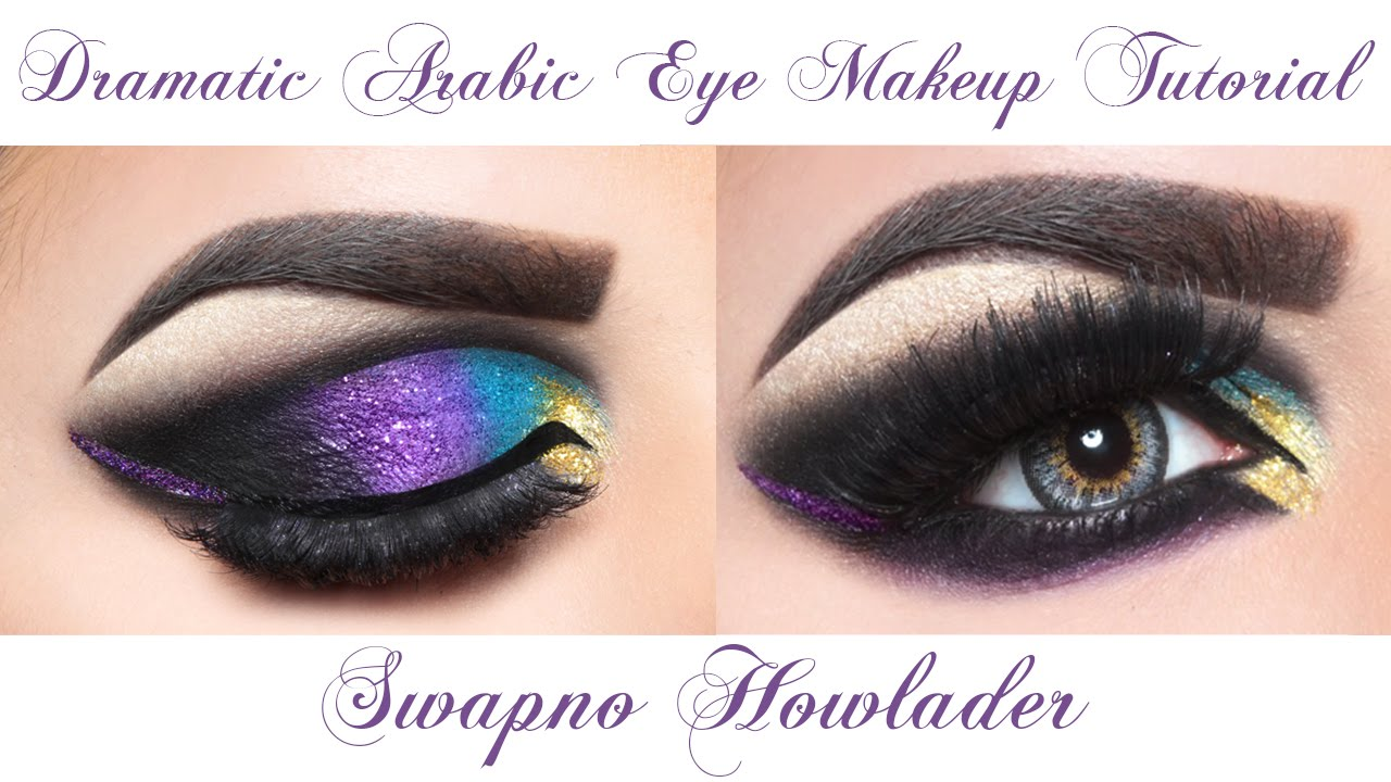 Dramatic Arabic Style Eye Makeup Tutorial Part 1