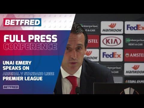 FULL UEL  Post-Match - Arsenal 4-0 Standard Liege - Unai Emery