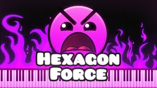 Synthesia [Piano Tutorial] Waterflame - Hexagon Force (Geometry Dash lvl16)
