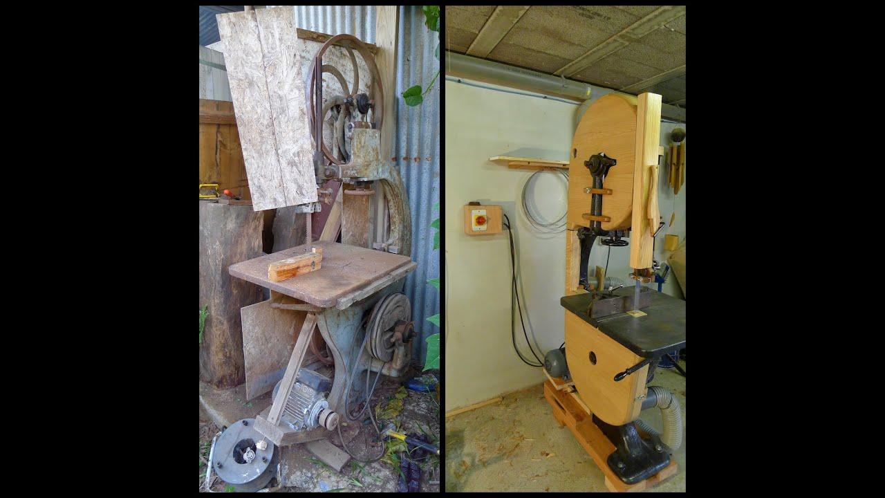 travail du bois une vielle scie ruban col de signe pour mon atelier youtube. Black Bedroom Furniture Sets. Home Design Ideas