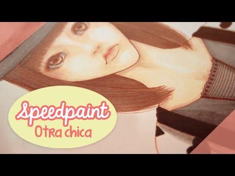 Speedpaint tradicional: Otra chica 🖤