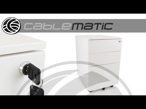 Cajonera para oficina con archivador 620x390x500mm distribuido por CABLEMATIC ®
