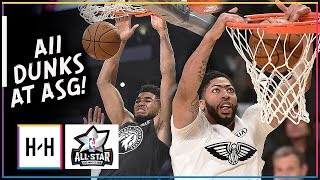 ALL Dunks From 2018 NBA All Star Game - CRAZY Show in LA | February 18, 2018