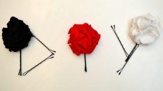 DIY T-shirt Flower Hair Pins