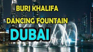 burj khalifa fountains in dubai