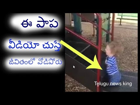 baby motivational video in park twitted by anand mahindra | telugu news king