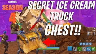 SECRET CHEST IN THE DUSTY DIVOT ICE CREAM TRUCK?! 'PAS CLICKBAIT' - FORTNITE SAISON 4
