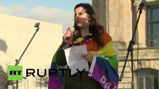 Germany: Berliners rally against NATO outside Bundestag