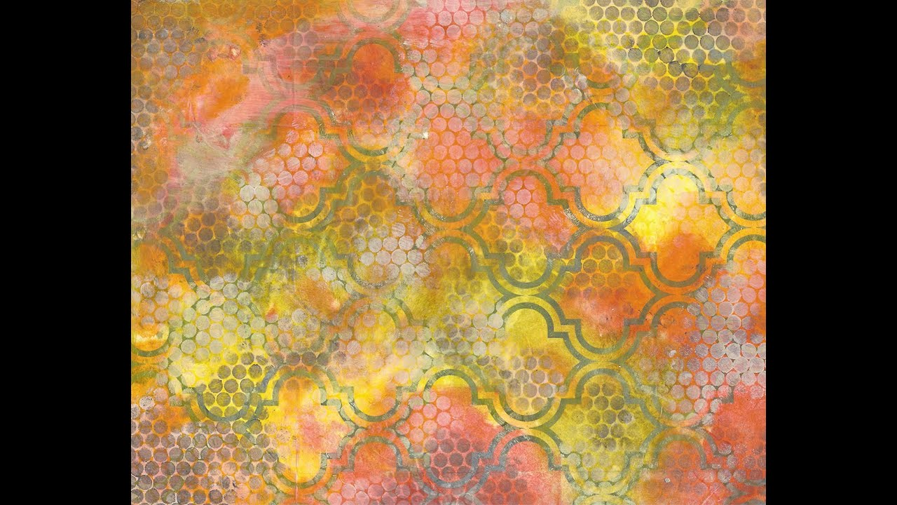 How to Use Metallic Decoupage Paper as a Resist , Book of Backgrounds 28
