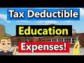 What Type Of Education Expenses Are Tax Deductible? (Tax Deductions For College Students) - 2018