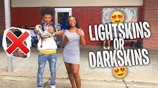 Which Do Girls Prefer ? Lightskins or Darkskins l Public Interview (School Edition)
