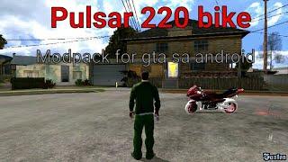 BAJAJ PULSAR 220 BIKE MODPACK FOR GTA SA ANDROID