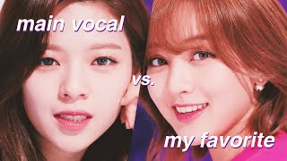 main vocalist vs. my favorite voice in each kpop group
