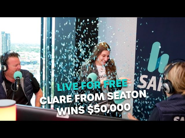 LIVE FOR FREE: Clare From Seaton Wins $50K! | Bec Cosi & Lehmo