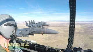 Most Amazing: F-15 Eagle Takeoff, refueling and Maneuvers (Cockpit View)