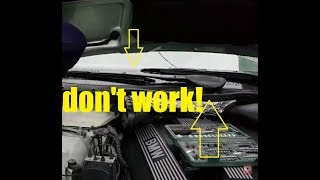 How to fix BMW windscreen wipers not working problem