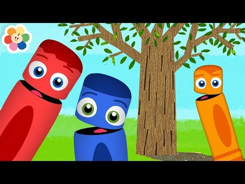 Learn Colors with Nature | Coloring Trees & Animals for Kids | Color Crew Videos on BabyFirst