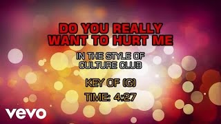 Culture Club - Do You Really Want To Hurt Me (Karaoke)