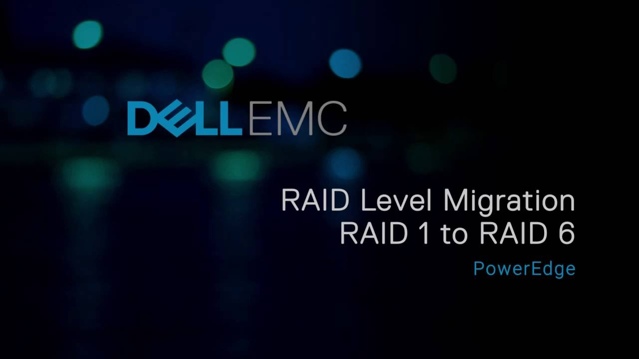 Reconfiguring RAID level from RAID 1 to RAID 6 on PERC controller