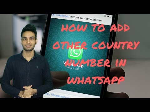 How to add other country number in whatsapp