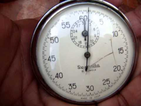 Vintage Old Antique Sekonda USSR 16 Jewels Pocket Stopwatch * See Video *