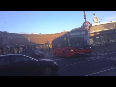 *NEW* London Bus W6's at Southgate Station (Arriva E200 Voith MMCs :: YX67VHs)