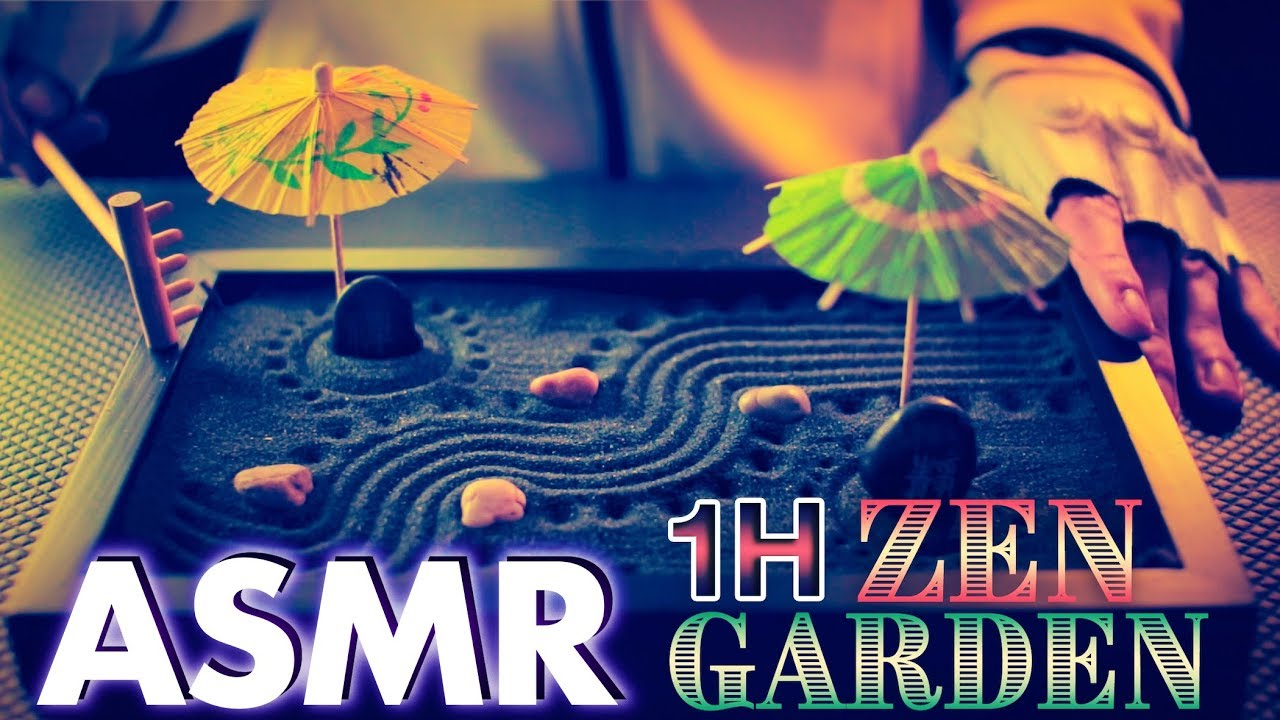 ASMR ZEN GARDEN 1 Hour Sleep (Sand, Crinkle, Brushing, Tapping, Cup Sounds) - NO TALKING